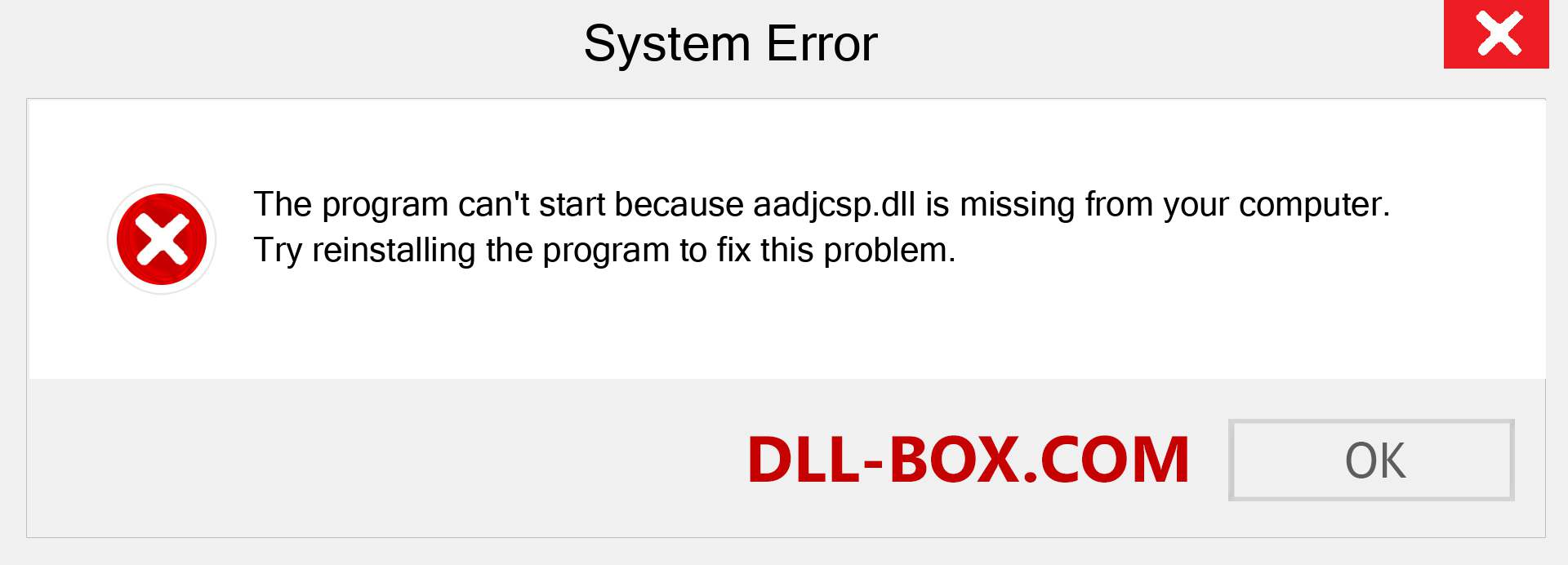 aadjcsp.dll file is missing?. Download for Windows 7, 8, 10 - Fix  aadjcsp dll Missing Error on Windows, photos, images